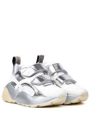 SILVER COLOR METALLIC ECO-LEATHER SNEAKERS FW 2019 STELLA McCARTNEY | 55 | 491513W188V9029
