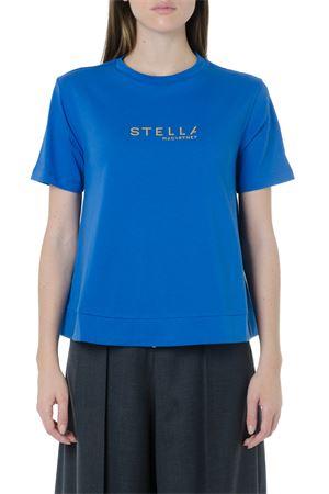 LOGO STELLA BLUE COTTON T-SHIRT FW 2019 STELLA McCARTNEY | 15 | 593857SNW194370