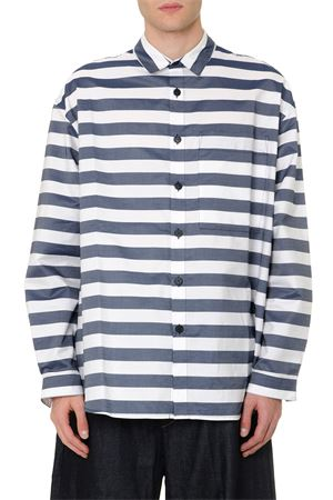WHITE & BLUE COTTON STRIPED OVERSIZE SHIRT FW 2019 SUNNEI | 9 | 0S041SUSP