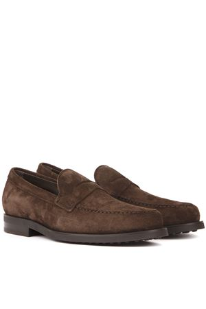BROWN SUEDE LOAFERS FW 2019 TOD