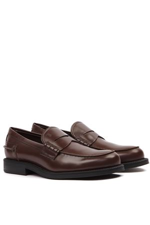 DARK BROWN LEATHER LOAFER FW 2019 TOD