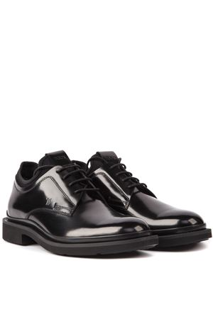 BLACK LEATHER LACE UP OXFORD SHOES FW 2019 TOD