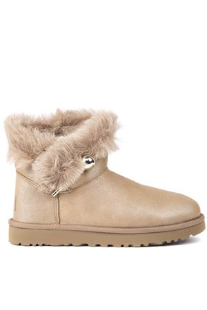 CLASSIC FLUFF SHEEP LEATHER ANKLE BOOTS FW 2019 UGG AUSTRALIA | 52 | 1103761WCLASSIC FLUFFPEARL