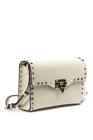 LEATHER IVORY ROCKSTUD SHOULDER BAG FW 2019 VALENTINO GARAVANI | 2 | SW2B0181WCII16