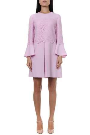 PINK WOOL & SILK EMBROIDERY SHORT DRESS FW 2019 VALENTINO | 32 | SB0VAP91MCR360