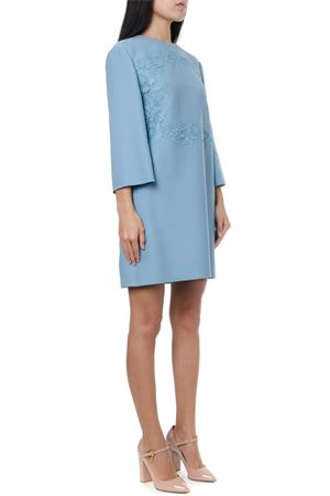 LIGHT BLUE WOOL & SILK SHORT DRESS FW 2019 VALENTINO | 32 | SB0VAPN036005Q