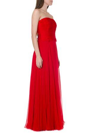 RED SILK LONG DRESS FW 2019 VALENTINO | 32 | SB3VD9452UP157
