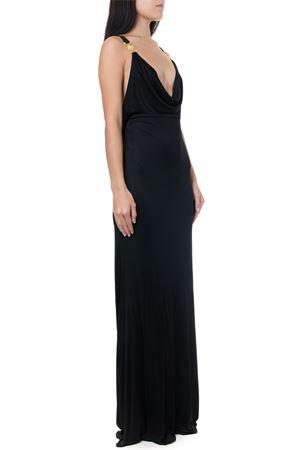 BLACK VISCOSE DRAPE LONG DRESS FW 2019 VERSACE   21   A84724A223485A1008
