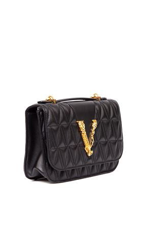 VERSACE BLACK QUILTED LEATHER BAG FW 2019 VERSACE | 2 | DBFG985DNATR4K41TP