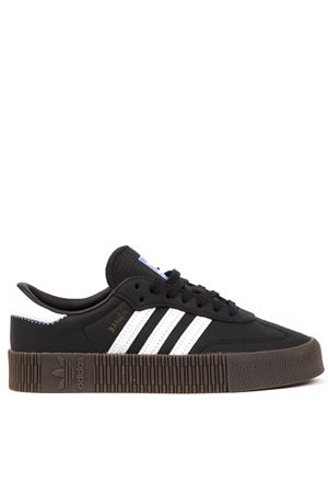 SAMBAROSE BLACK LEATHER SNEAKERS FW 2019 ADIDAS ORIGINALS | 55 | B28156SAMBAROSE WCBBLACK/FTWWHT/GUM5