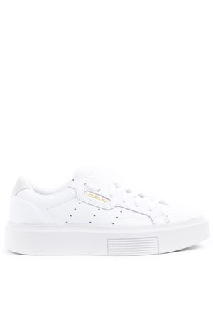 SLEEK SUPER WHITE LEATHER SNEAKERS FW 2019 ADIDAS ORIGINALS | 55 | EF8858SLEEK SUPERFTWWHT/CRYWHT/CBLACK
