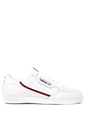 SNEAKER CONTINENTAL BIANCA IN ECOPELLE AI 2019 ADIDAS ORIGINALS | 48 | G27706CONTINENTAL 80FTWWHT/SCARLE/CONAVY