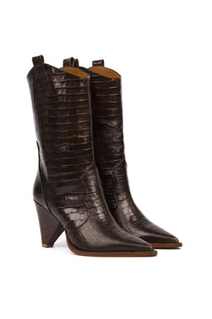 DARK BROWN COCODRILE EFFECT LEATHER FW 2019 ALDO CASTAGNA | 52 | 119-DESICOCCOBROWN