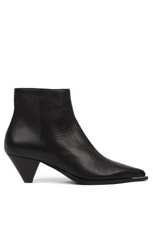 BLACK HAMMERED LEATHER ANKLE BOOT FW 2019 ALDO CASTAGNA | 52 | 119-DESIMUFLONENERO