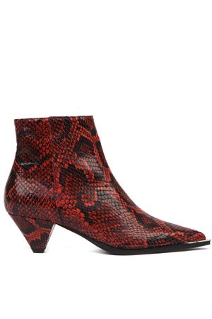 RED PYTHON LEATHER ANKLE BOOT FW 2019 ALDO CASTAGNA | 52 | 119-DESIPITONEROSSO