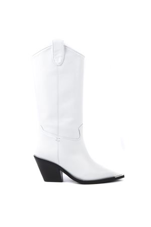 WHITE DIVA LEATHER BOOTS FW 2019 ALDO CASTAGNA | 52 | 119-DIVAVITELLOBIANCO