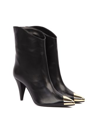 BLACK LEATHER BOOTS WITH METAL TOE FW 2019 ALDO CASTAGNA | 52 | 119-PIPPINAPPANERO