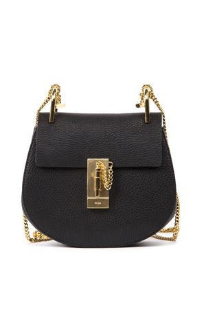 BLACK MINI DREW PLAID GRAINED NAPPA LEATHER BAG FW CHLOÉ | 2 | C14WS032944UNI001