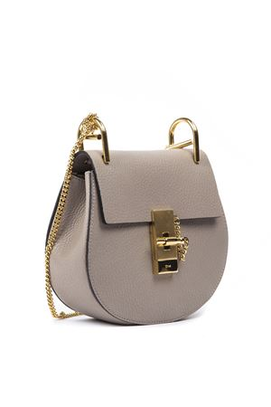 TAUPE MINI DREW PLAID GRAINED NAPPA LEATHER BAG FW 2019 CHLOÉ | 2 | C14WS032944UNI23W