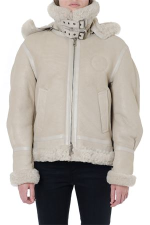 HOODED BEIGE SHEARLING JACKET WITH REAR LOGO FW 2019 CHLOÉ | 27 | C19ACV07205UNI119