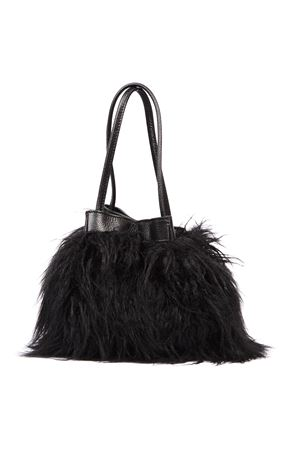 BLACK MONGOLIA ECO FUR BAG FW 2019 COCCINELLE | 2 | E1 ED8 23 01 01POT MONGOLIA FUR001