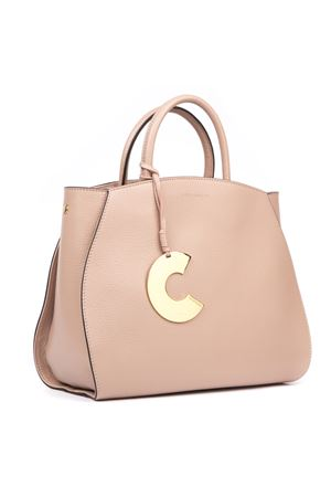 CONCRETE PEONY MEDIUM LEATHER BAG FW 2019 COCCINELLE | 2 | E1 ELA 18 01 01CONCRETEP08
