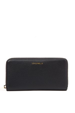 METALLIC SOFT BLACK LEATHER WALLET FW 2019 COCCINELLE | 34 | E2 EW5 11 04 01METALLIC SOFT001