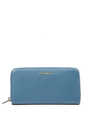 METALLIC SOFT AZUL LEATHER WALLET FW 2019 COCCINELLE | 34 | E2 EW5 11 04 01METALLIC SOFTB26
