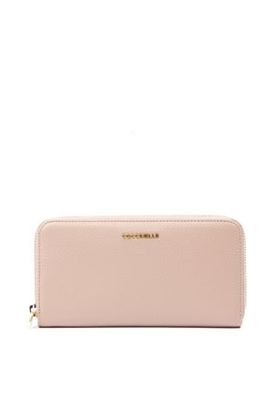 METALLIC SOFT PEONY LEATHER WALLET FW 2019 COCCINELLE | 34 | E2 EW5 11 04 01METALLIC SOFTP08