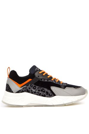 SNEAKERS IN TESSUTO NERO STAMPA LEOPARD AI 2019 CRIME LONDON | 55 | 25082AA2BUNI30