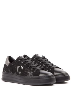 SONIK BLACK SCALY LEATHER SNEAKER FW 2019 CRIME LONDON | 55 | 25505AA2BUNI20