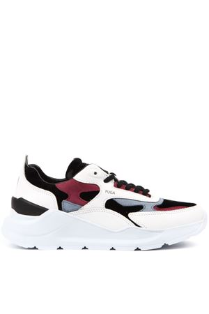 FUGA SNEAKERS LEATHER COLLIE WITH SUEDE INSERTS FW 2019 D.A.T.E. | 55 | W311-FG-CO-WBFUGAWHITE/BLACK