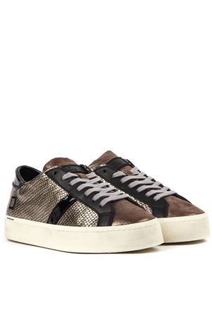 SNEAKERS HILL DOUBLE ROOF IN PELLE LAMINATA BRONZO AI 2019 D.A.T.E. | 55 | W311-HD-RL-PMHILL DOUBLE ROOFPIOMBO