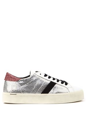 SNEAKERS HILL DOUBLE ROOF IN PELLE LAMINATA ARGENTO AI 2019 D.A.T.E. | 55 | W311-HD-RL-SLHILL DOUBLE ROOFSILVER