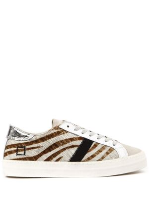 SNEAKERS HILL LOW IN CAVALLINO STAMPA ZEBRA AI 2019 D.A.T.E. | 55 | W311-HL-AN-ZBHILL LOW ANIMALIERZEBRA
