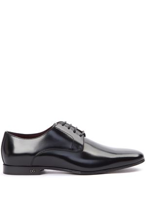 BLACK LEATHER DERBY SHOES FW 2019 DOLCE & GABBANA | 208 | A10465A120380999