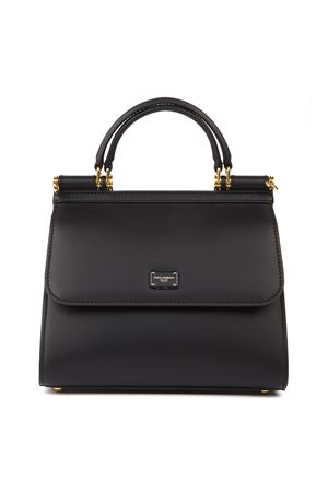 BLACK SMALL SICILY 58 SMOOTH LEATHER HANDBAG FW 2019 DOLCE & GABBANA | 2 | BB6622AV38580999