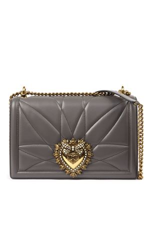 LARGE DEVOTION BAG IN LEAD COLOR QUILTED NAPPA LEATHER FW 2019 DOLCE & GABBANA | 2 | BB6651AV96780740