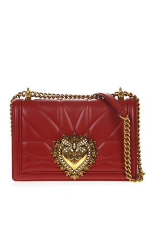 RED MEDIUM DEVOTION BAG IN QUILTED NAPPA LEATHER FW 2019 DOLCE & GABBANA | 2 | BB6652AV96787124