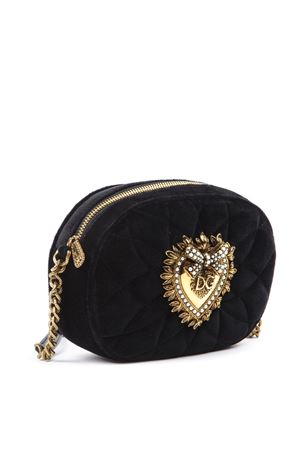 MATELASSÉ BLACK VELVET SHOULDER BAG FW 2019 DOLCE & GABBANA | 2 | BB6704AA09080999