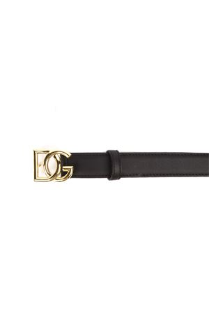 BLACK LEATHER BELT WITH LOGO BUCKLE FW 2019 DOLCE & GABBANA | 12 | BE1355AA87080999