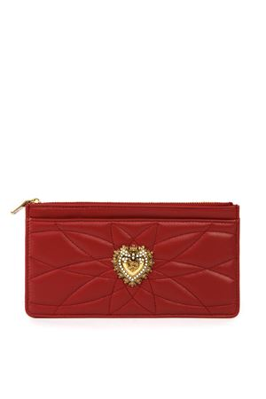 DG DEVOTION RED LEATHER CARDHOLDER FW 2019 DOLCE & GABBANA | 34 | BI1265AV96787124
