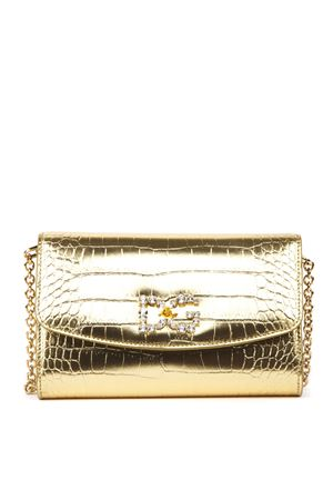 GOLD CROCODILE PRINT METALLIC LEATHER CLUTCH FW 2019 DOLCE & GABBANA | 2 | BI1275AJ5488H962