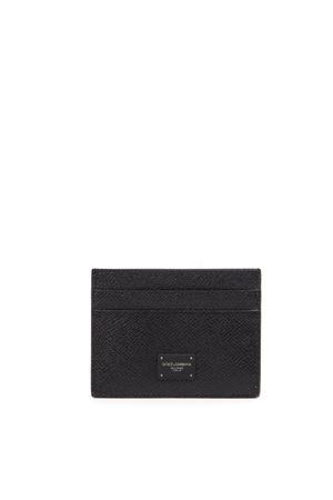 BLACK LEATHER CARD HOLDER FW 2019 DOLCE & GABBANA   110000025   BP0330AZ60280999