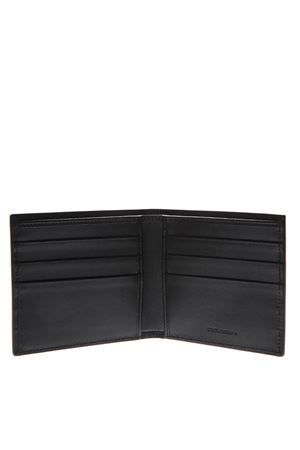 BLACK LEATHER BILFOLD WALLET WITH LOGO fw 2019 DOLCE & GABBANA | 34 | BP1321AZ1068B956