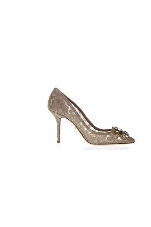 90MM BELLUCCI SAND LACE & SWAROVSKI PUMPS FW 2019 DOLCE & GABBANA | 68 | CD0101AL19880703