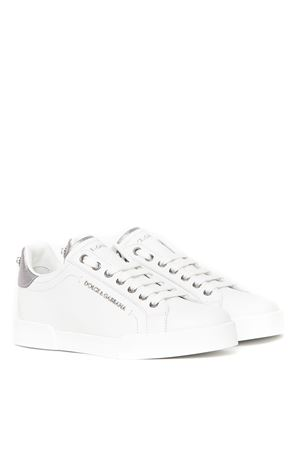 PORTOFINO WHITE LEATHER SNEAKER FW 2019 DOLCE & GABBANA | 55 | CK0159AN2988I078