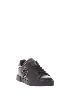 LOGO PATCH LEATHER SNEAKERS SS 2019 DOLCE & GABBANA | 55 | CS1538AH1648B979