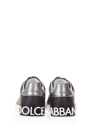 PORTOFINO BLACK SNEAKERS IN NAPPA CALFSKIN FW 2019 DOLCE & GABBANA | 55 | CS1587AH5278B979