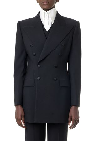 BLACK WOOL DOUBLE BREAST JACKET FW 2019 DOLCE & GABBANA | 14 | F29CRTFUCEGN0000
